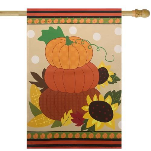 "Pumpkins and Sunflowers Autumn Harvest Garden Flag 28"" x 40"" - IMAGE 1"