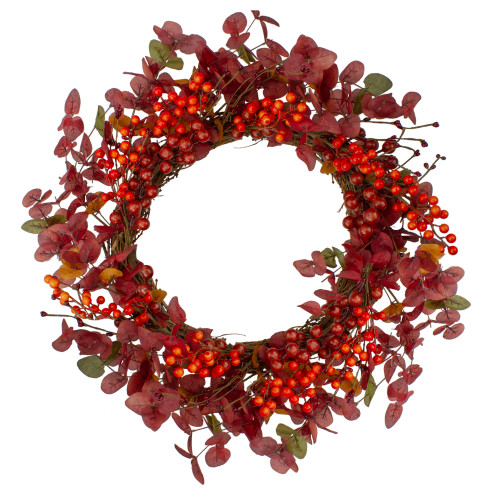 Red Berries Artificial Christmas Wreath - 24-Inch, Unlit - IMAGE 1