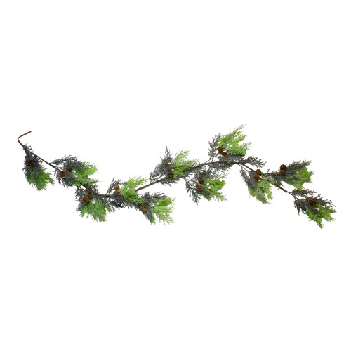 5' Berry, Cedar and Pine Cone Artificial Christmas Garland - Unlit - IMAGE 1