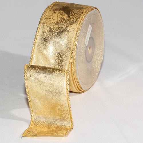 Set of 2 Gold Glittered Bundled Ribbon 2mm x 20 Yards - IMAGE 1