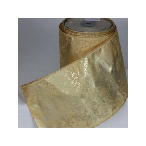 Metallic Gold Glittered Bundled Ribbon 6mm x 20 Yards - IMAGE 1