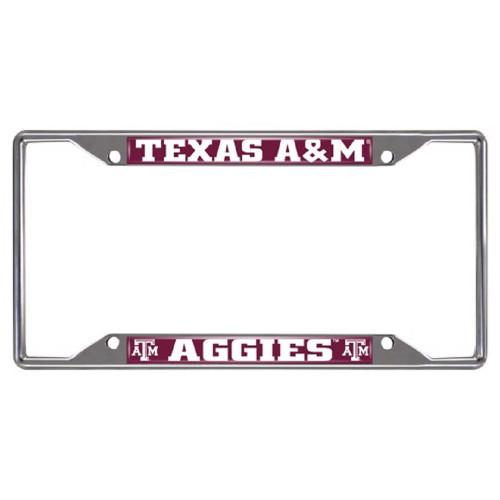 Texas A&M Aggies Chrome License Plate Frame - IMAGE 1
