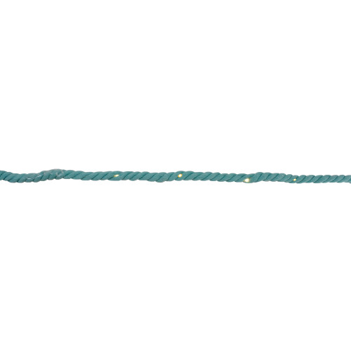 Warm White LED Teal Cotton Rope Fairy Lights and Timer 9.8 feet - IMAGE 1