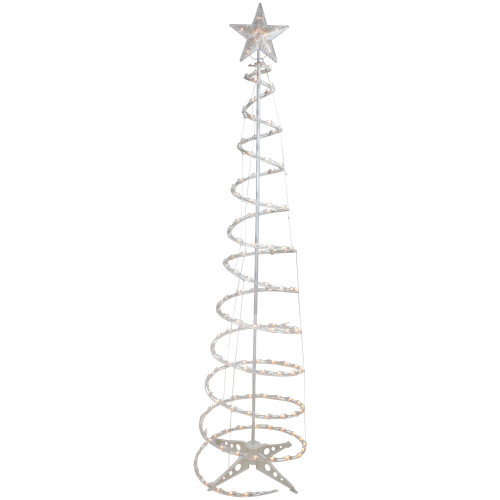 6' Pre-Lit Spiral Christmas Tree - Clear Lights - IMAGE 1
