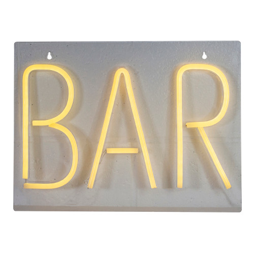 16-Inch Yellow Neon Style Bar LED Lighted Wall Sign - IMAGE 1