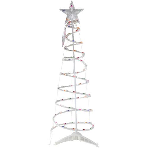 4' Pre-Lit Spiral Christmas Tree - Multi Color Lights - IMAGE 1