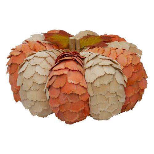 "10"" Brown and Orange Autumn Harvest Tabletop Pumpkin - IMAGE 1"