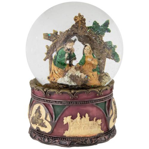 "5.75"" Holy Family Nativity Scene Christmas Snow Globe - IMAGE 1"