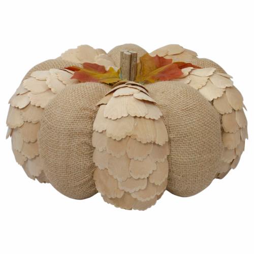 "9"" Brown Autumn Harvest Tabletop Pumpkin - IMAGE 1"