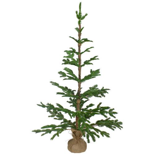 4' Green Ponderosa Pine Artificial Christmas Tree with Jute Base – Unlit - IMAGE 1