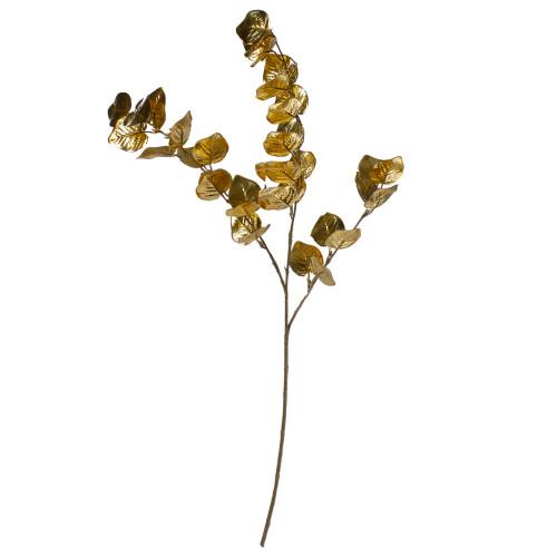 """34"""" Metallic Gold Artificial Eucalyptus Spray - IMAGE 1"""