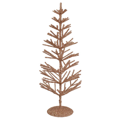 "18"" Rose Gold Artificial Tabletop Christmas Tree - Unlit - IMAGE 1"