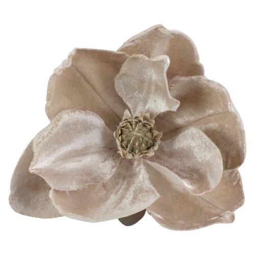 "7"" Beige Artificial Magnolia Clip-On Christmas Ornament - IMAGE 1"