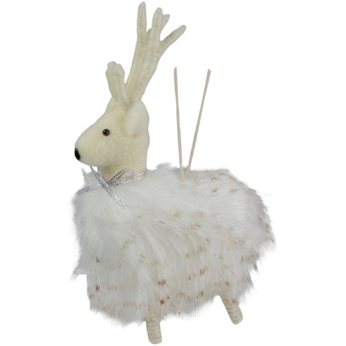 "8"" White and Beige Reindeer Christmas Ornament - IMAGE 1"