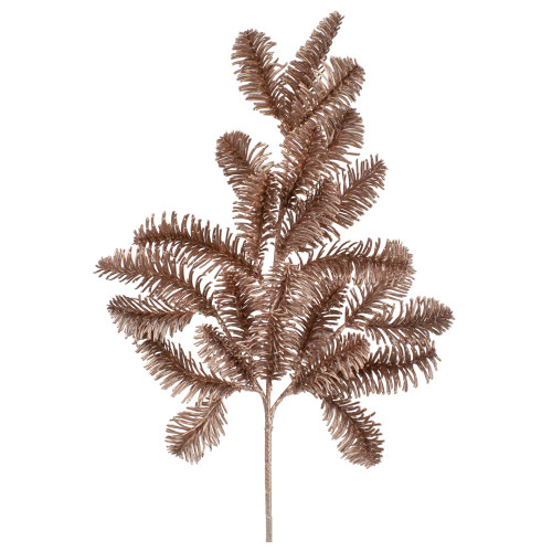 """20"""" Rose Gold Pine Branch  Artificial Christmas Spray - IMAGE 1"""