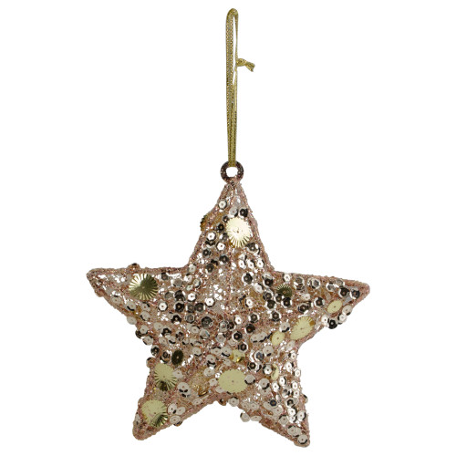 "6"" Tri-Color Gold Star Shaped Christmas Ornament - IMAGE 1"