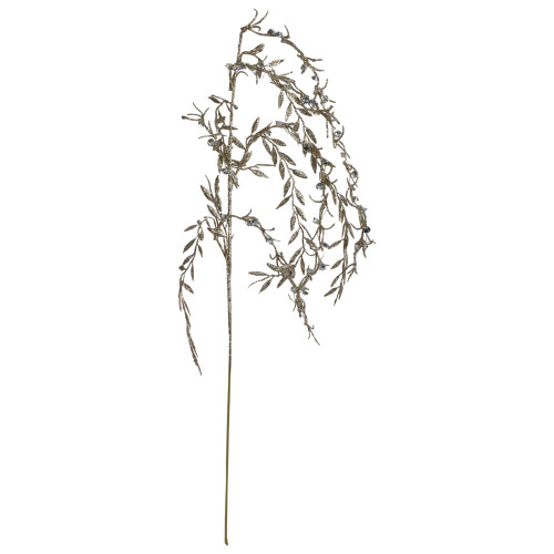 """41"""" Silver and Gold Glittered Willow Branch Christmas Spray - IMAGE 1"""