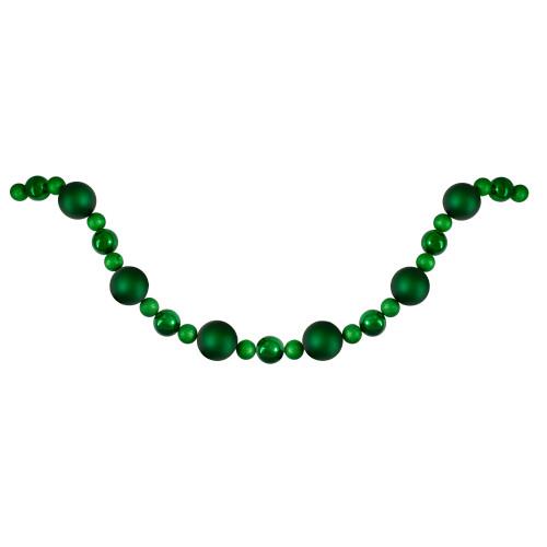6' Green Shatterproof Ball Artificial Christmas Garland - Unlit - IMAGE 1