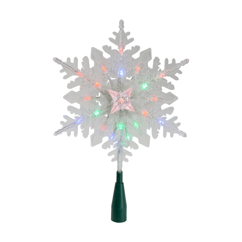"""15"""" Lighted Three Dimensional Star Christmas Tree Topper - Multi Colored Lights - IMAGE 1"""