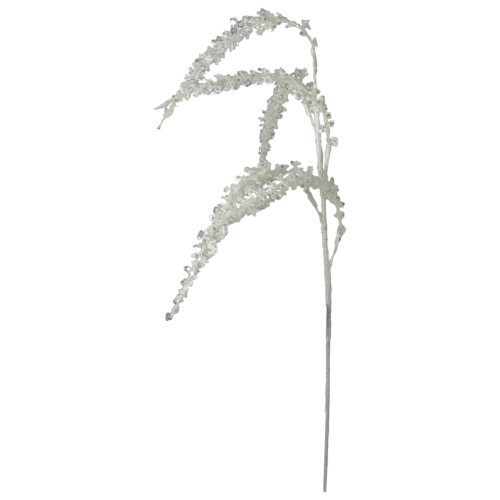 """27"""" White Sequins Weeping Artificial Pick - IMAGE 1"""