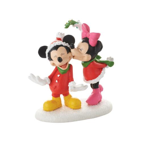 Department 56 Mickeys Christmas Kiss Tabletop Piece #4053053 - IMAGE 1