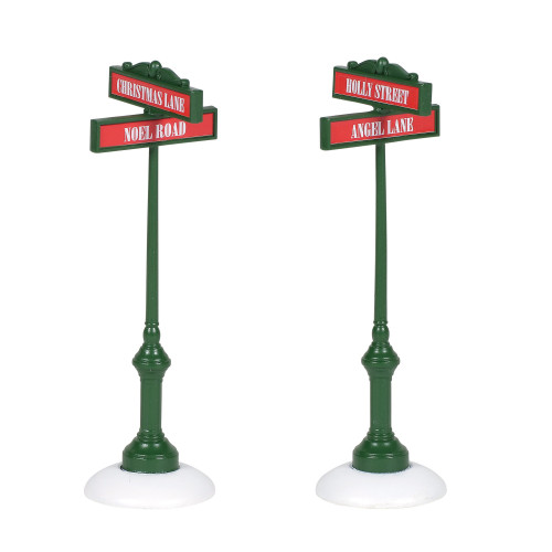 Department 56 Village Street Signs Accessory Set #6005508 - IMAGE 1