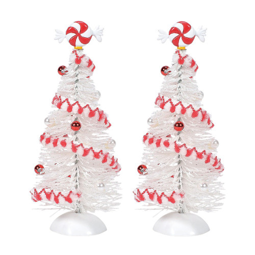 Department 56 Peppermint White Sisals Christmas Trees Village Accessory #6005520 - IMAGE 1