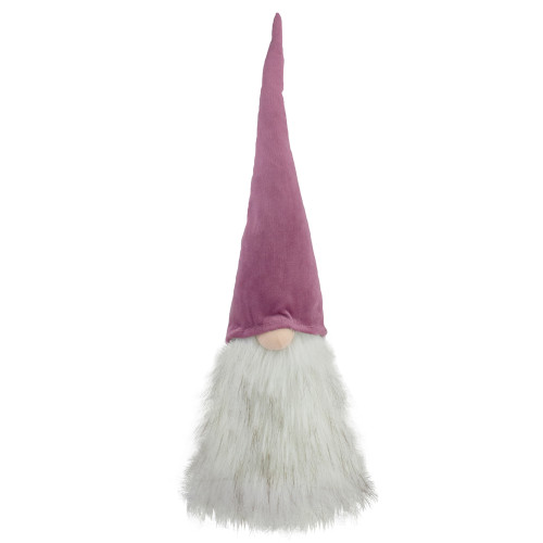 """17"""" Mauve Battery Operated Lighted Gnome Christmas Decoration - IMAGE 1"""