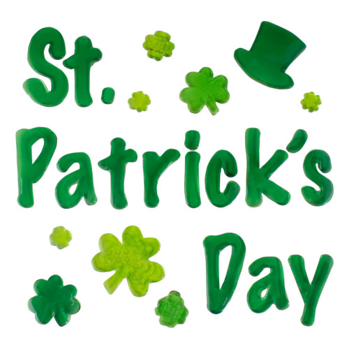 St. Patrick's Day Shamrock Gel Window Clings - IMAGE 1