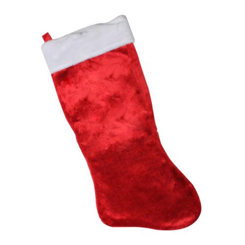 "36"" Oversized Red and White Christmas Stocking - IMAGE 1"