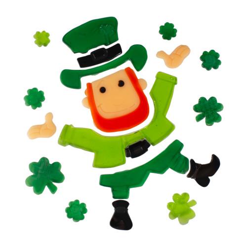 St. Patrick's Day Leprechaun Gel Window Clings - IMAGE 1
