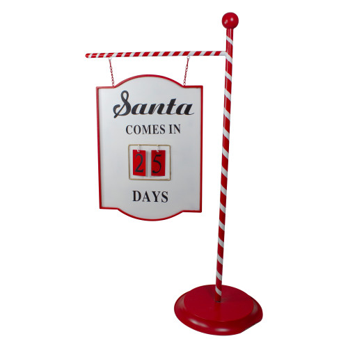 "57.75"" Red and White Countdown to Christmas Display Sign - IMAGE 1"