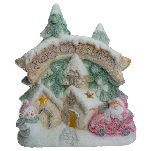 "16.5"" LED Lighted Glittered Snow-Covered Winter Village Christmas Tabletop Decoration - IMAGE 1"