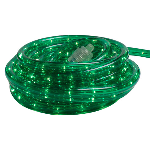 100' Green Incandescent Outdoor Christmas Rope Lights - IMAGE 1