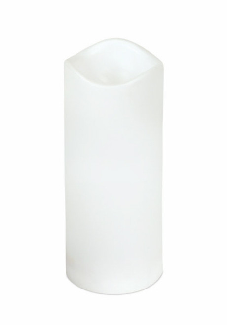"""White Battery Operated Flameless LED Indoor/Outdoor Pillar Candle 7"""" - IMAGE 1"""