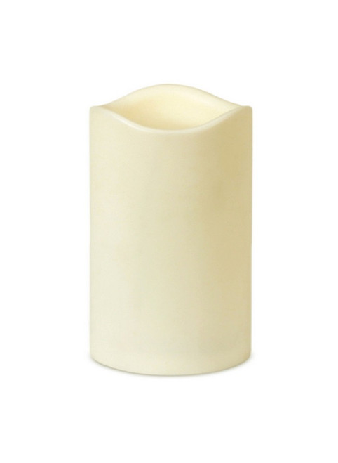 "6.75"" Ivory Battery Operated Flameless LED Lighted Flickering Wax Christmas Pillar Candle - IMAGE 1"