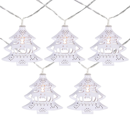 10 B/O LED Warm White Christmas Tree with Deer Lights - 3' Clear Wire - IMAGE 1
