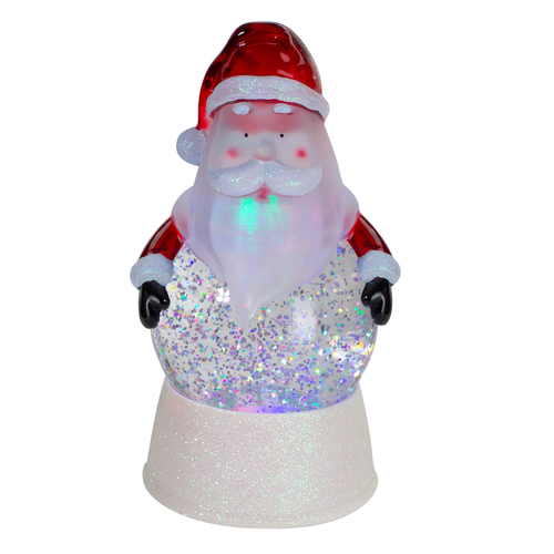 "7"" LED Lighted Color Changing Santa Christmas Snow Globe - IMAGE 1"