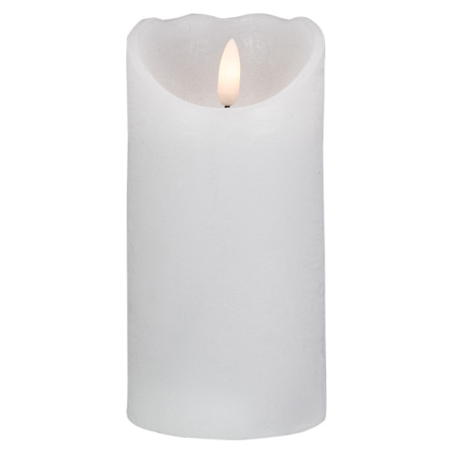"6"" LED White Flameless Pillar Christmas Décor Candle - IMAGE 1"