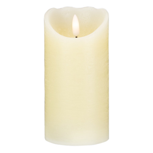 """6"""" LED Ivory Flameless Battery Operated Christmas Decor Candle - IMAGE 1"""