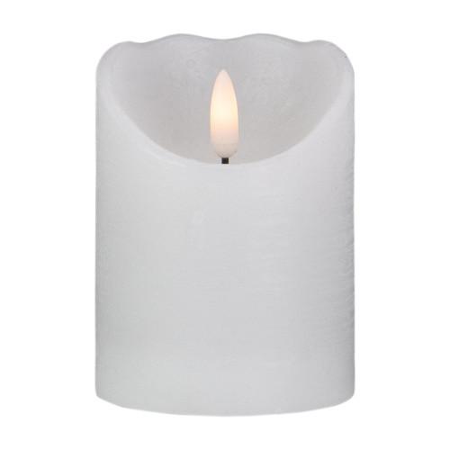 "4"" LED White Flameless Battery Operated Christmas Decor Candle - IMAGE 1"