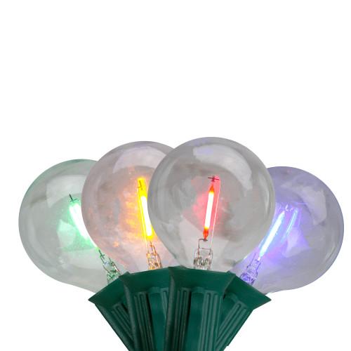 10ct Multi Color LED G50 Globe Christmas Light Set, 10ft Green Wire - IMAGE 1