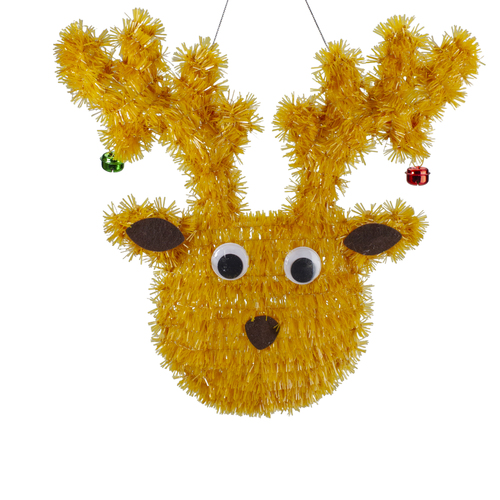 "13"" Tinsel Reindeer Christmas Window Decoration - IMAGE 1"
