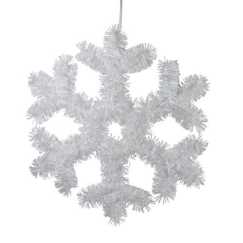 "13.5"" Tinsel Snowflake Christmas Window Decoration - IMAGE 1"