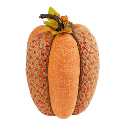 "10.5"" Orange Autumn Harvest Thanksgiving Tall Pumpkin - IMAGE 1"
