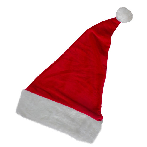 """19"""" Red and White Unisex Adult Christmas Santa Hat- One Size - IMAGE 1"""