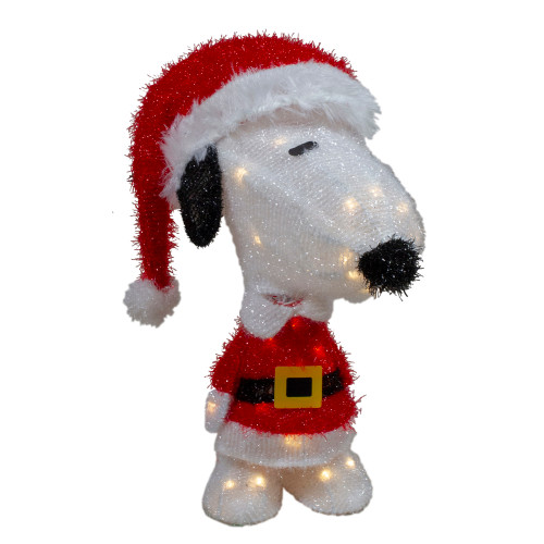 """18"""" LED Lighted Peanuts Snoopy in Santa Suit Outdoor Christmas Decoration - IMAGE 1"""