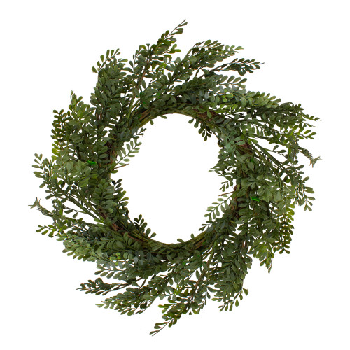 """32"""" Mixed Greens Lush Boxwood Artificial Wreath - Unlit - IMAGE 1"""