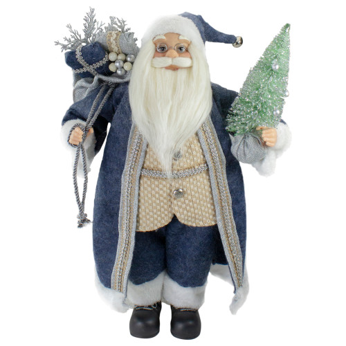"""18"""" Standing Santa Christmas Figure with a Decorated Tree - IMAGE 1"""