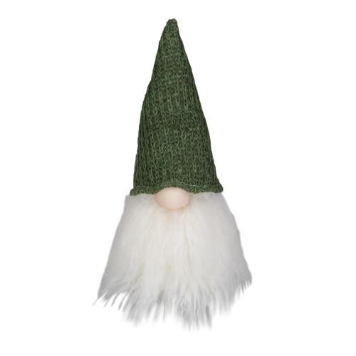 "11"" LED Lighted Plush Green Knit Gnome Christmas Figure - IMAGE 1"
